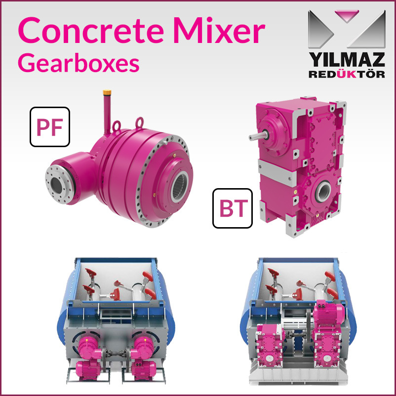 Cement Mixer Gearboxes